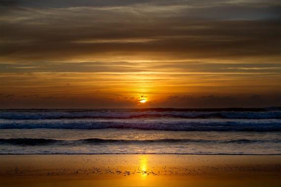 Die Sonne verschwindet