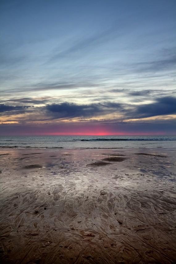 Glänzender Strand