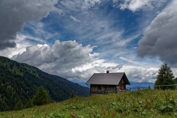 Hütte in den Wolken