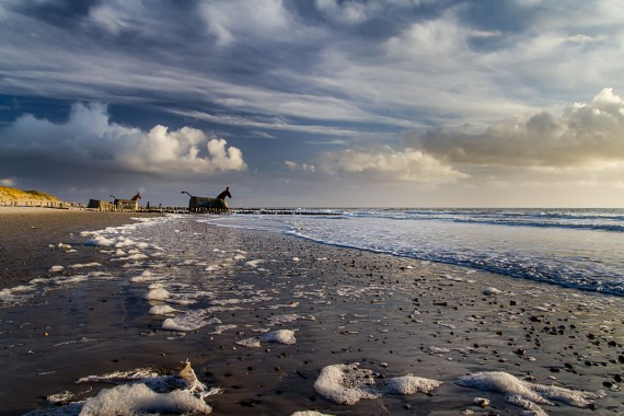 Schaum am Strand