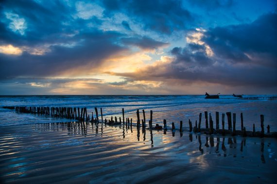 Winterabend am Meer